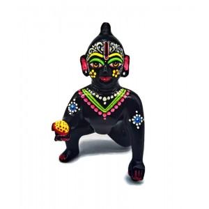 Laddu Gopal Ji| Bal Gopal | Bal Kishaur | Bal Krishna | Baby Krishna Brass Idol  ( Hand Painted by Artist of Vrindavan  )