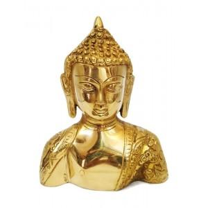 Buddha Head Idol of Pure Brass
