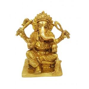 Ganesh Ji | Ganpati | Ganpati Bappa | Gajanand Maharaj Pure Brass Statue